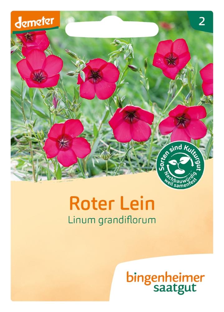 Saatgut Roter Lein -B-