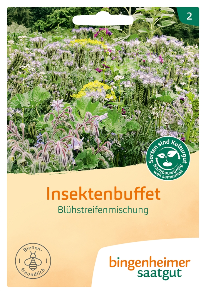 Saatgut Blühstreifen-Mischung Insektenbuffet -B-