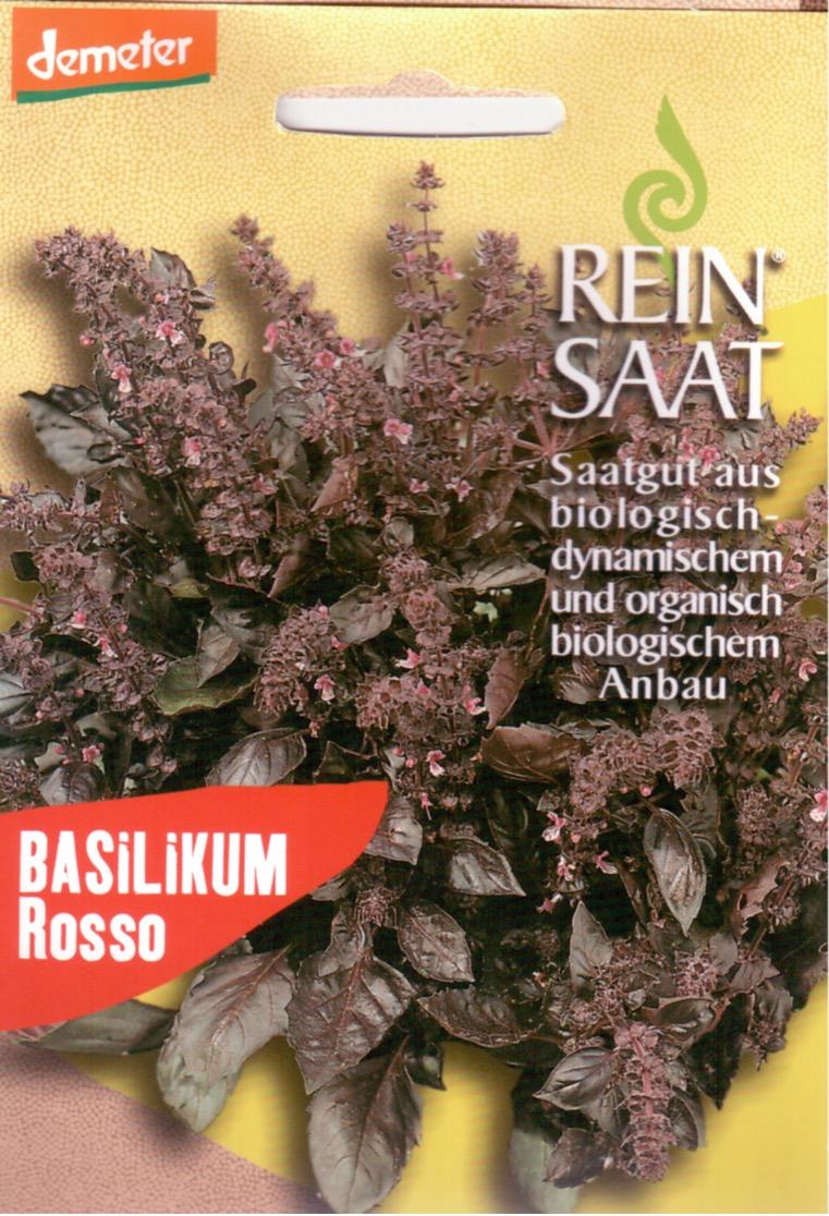 Saatgut Basilikum Rosso -R-
