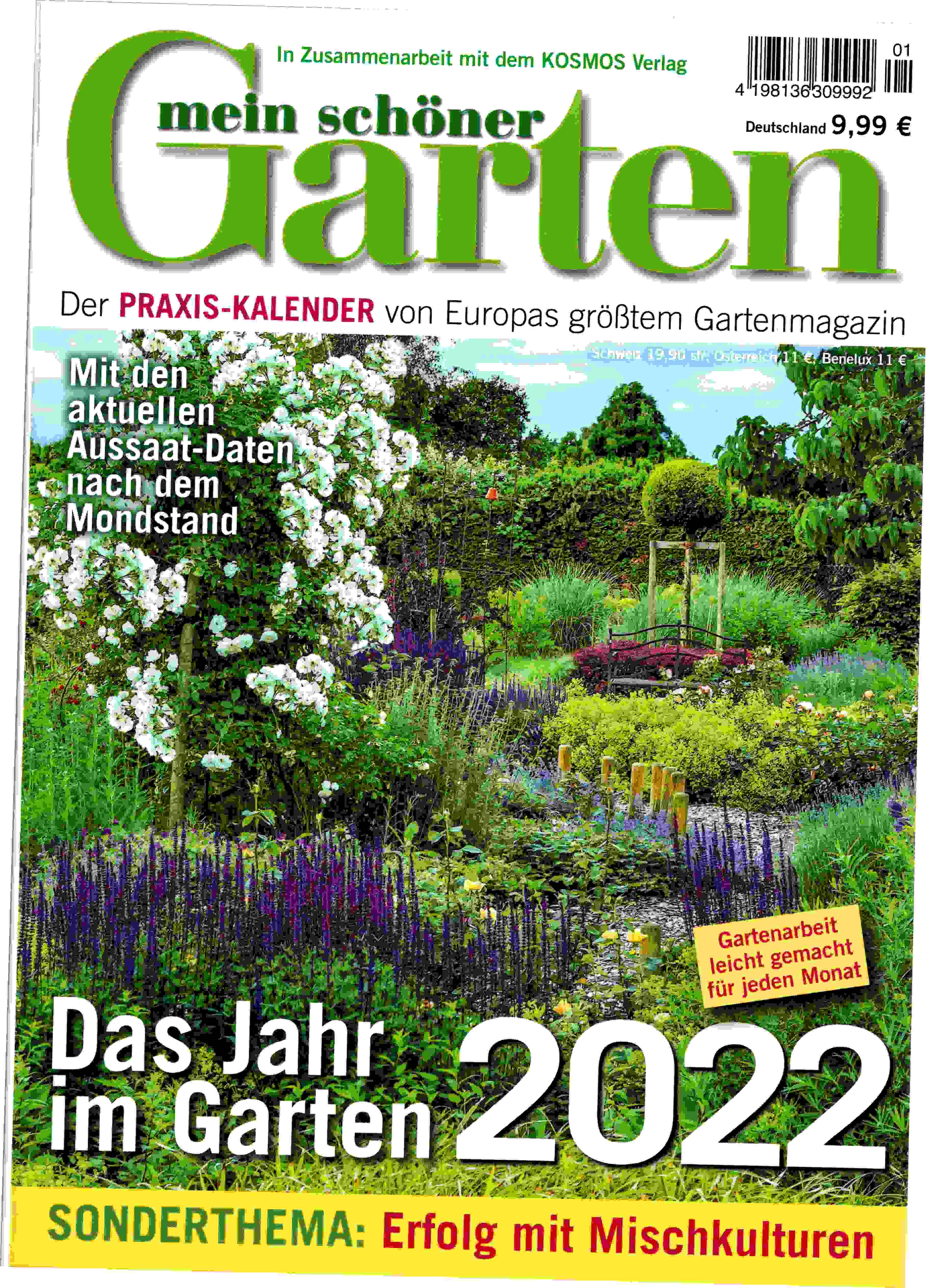 Zeitschrift Praxis Kalender Mein schöner Garten 2022