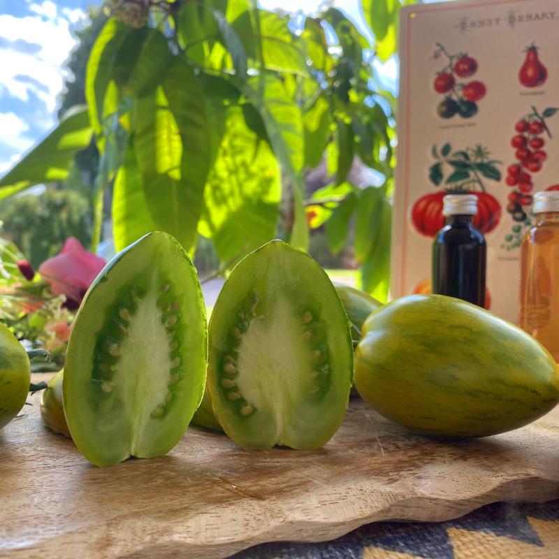 Grüne Demeter Tomate mit wunderbaren geschmack